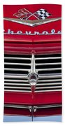 1959 Chevrolet Grille Ornament Beach Towel by Jill Reger