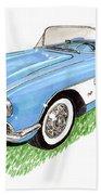 1959 Corvette Frost Blue Beach Towel