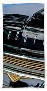 1959 Desoto Adventurer Hood Emblem Beach Towel