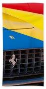 1959 Ferrari 250 Gt Coupe Grille Emblems Beach Towel