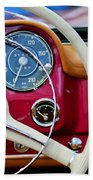 1959 Mercedes-benz 190 Sl Steering Wheel Beach Towel