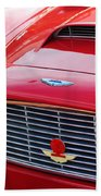1960 Aston Martin Db4 Grille Emblem Beach Towel