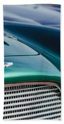 1960 Aston Martin Db4 Series II Grille - Hood Emblem Beach Towel by Jill Reger