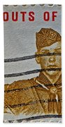 1960 Boy Scouts Stamp Beach Towel
