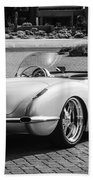 1960 Chevrolet Corvette -0880bw Beach Towel