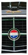 1960 Chrysler 300f Convertible Grille Emblem Beach Towel