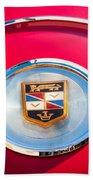 1960 Chrysler Imperial Crown Convertible Emblem Beach Towel