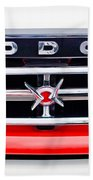1960 Dodge Truck Grille Emblem Beach Towel by Jill Reger