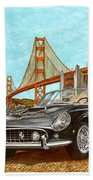 1960 Ferrari 250 California G T Beach Towel