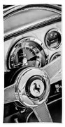 1960 Ferrari 250 Gt Cabriolet Pininfarina Series II Steering Wheel Emblem -1319bw Beach Towel