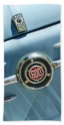 1960 Fiat 600 Jolly Emblem Beach Towel