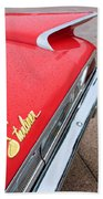 1960 Ford Galaxie Starliner Taillight Emblem Beach Towel