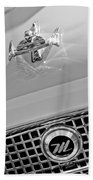1960 Nash Metropolitan Hood Ornament Beach Towel