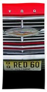 1960 Red Chevy Beach Towel