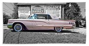 1960 Thunderbird Bw Beach Towel