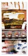 1960s Mini Cooper Beach Towel by David Ridley