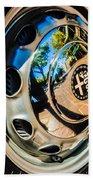 1961 Alfa Romeo Giulietta Sprint Speciale Wheel Emblem -0051c Beach Towel