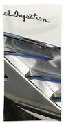 1961 Chevrolet Corvette Side Emblem 3 Beach Towel