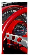 1961 Chevrolet Corvette Steering Wheel 2 Beach Towel