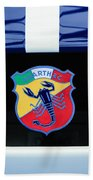 1961 Fiat-abarth 1000 Bialbero Gt Competition Coupe Emblem Beach Towel