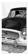 1961 Nash Metro In Black White Beach Towel