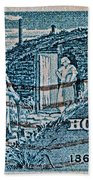 1962 Homestead Act Stamp Beach Towel