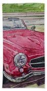 1962 Mercedes Benz 190sl Beach Towel