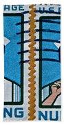 1962 Nursing Stamp Collage Beach Towel