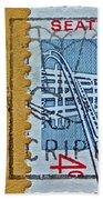 1962 Seattle World's Fair Stamp Beach Towel