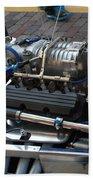 1962 V6 Lotus Engine Beach Towel