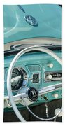 1962 Volkswagen Vw Beetle Cabriolet Steering Wheel Beach Towel