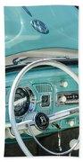 1962 Volkswagen Vw Beetle Cabriolet Steering Wheel Beach Towel