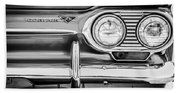 1963 Chevrolet Corvair Monza Spyder Headlight Emblem -0594bw Beach Towel