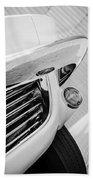 1963 Chevrolet Corvette Split Window Grille -221bw Beach Towel