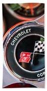1963 Chevrolet Corvette Split Window Steering Wheel Emblem -170c Beach Towel