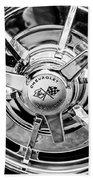 1963 Chevrolet Corvette Split Window Wheel Emblem -478bw Beach Towel