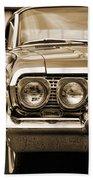 1963 Chevrolet Impala Ss In Sepia Beach Towel