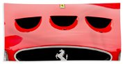 1963 Ferrari 250 Gto Grille Emblem -1753c Beach Towel