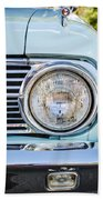 1963 Ford Falcon Futura Convertible Headlight - Hood Ornament Beach Towel