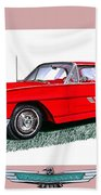 1963 Ford Thunderbird Beach Towel by Jack Pumphrey