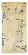 1963 Space Capsule Patent Vintage Beach Towel