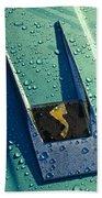 1963 Studebaker Avanti Hood Ornament Beach Towel by Jill Reger
