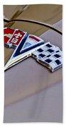 1964 Chevrolet Corvette Coupe Emblem Beach Towel