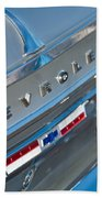 1964 Chevrolet Impala Taillights And Emblems Beach Towel