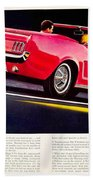 1964 - Ford Mustang Convertible - Advertisement - Color Beach Towel