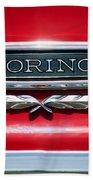 1965 Ford Torino Emblem Beach Towel
