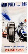 1965 Grand Prix De Paris Beach Towel
