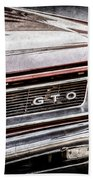 1965 Pontiac Gto Grille Emblem -0442ac Beach Towel