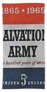 1965 Salvation Army Stamp Beach Towel