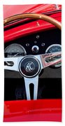 1965 Shelby Ac Cobra Roadster 289 Steering Wheel Emblem Beach Towel